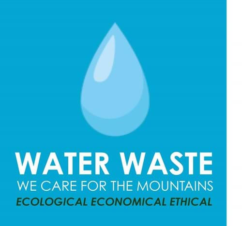 Water waste - we care for the mountains