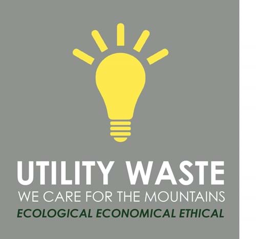 Utility waste - We care for the mountains